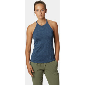 Mountain Hardwear Mighty Stripe Top sin Mangas Mujer, zinc
